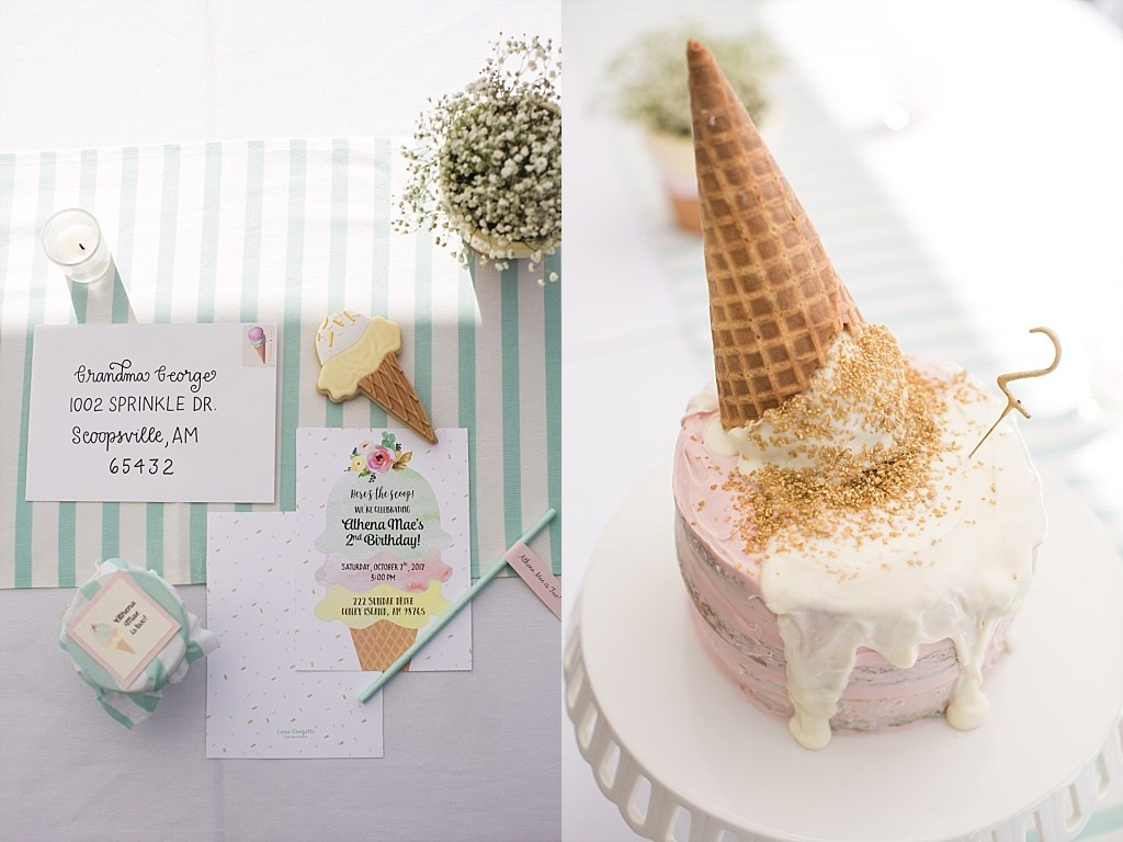 @nicoleconner's cover photo for 'Super Sweet Ice Cream Birthday Party | Athena turns two | Nicole Conner Photography'