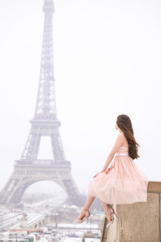 @eva_phan's cover photo for 'An Eiffel Tower Moment with Morning Lavender - Eva Darling'