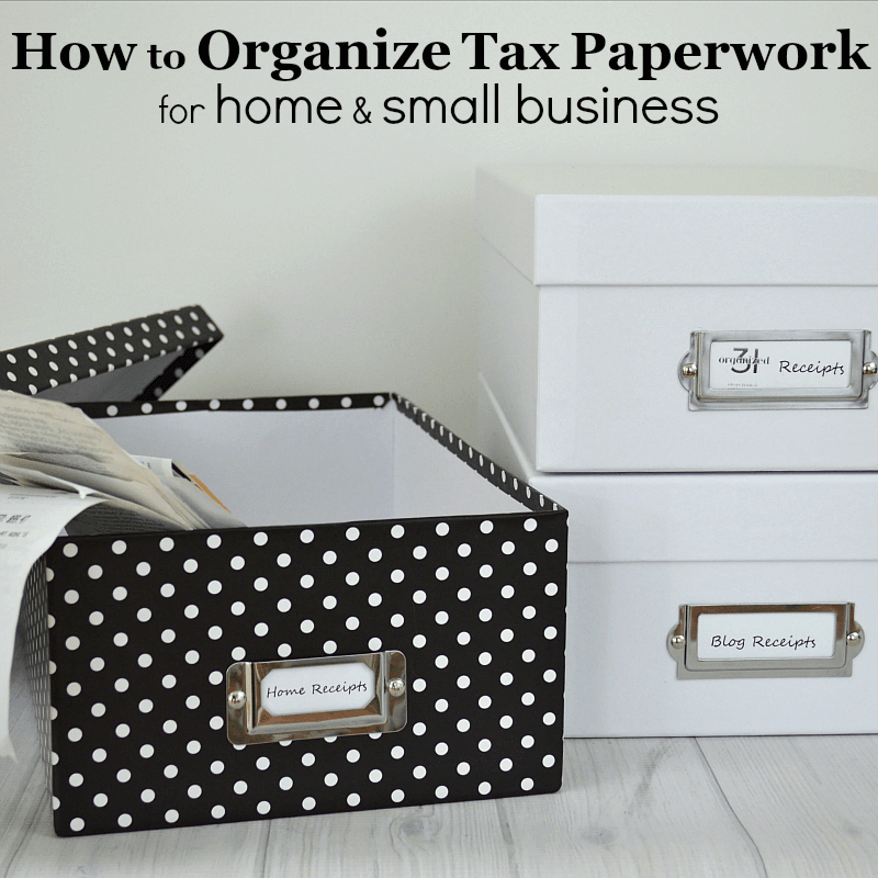 @organized31's cover photo for 'How to Organize Tax Paperwork - Organized 31'