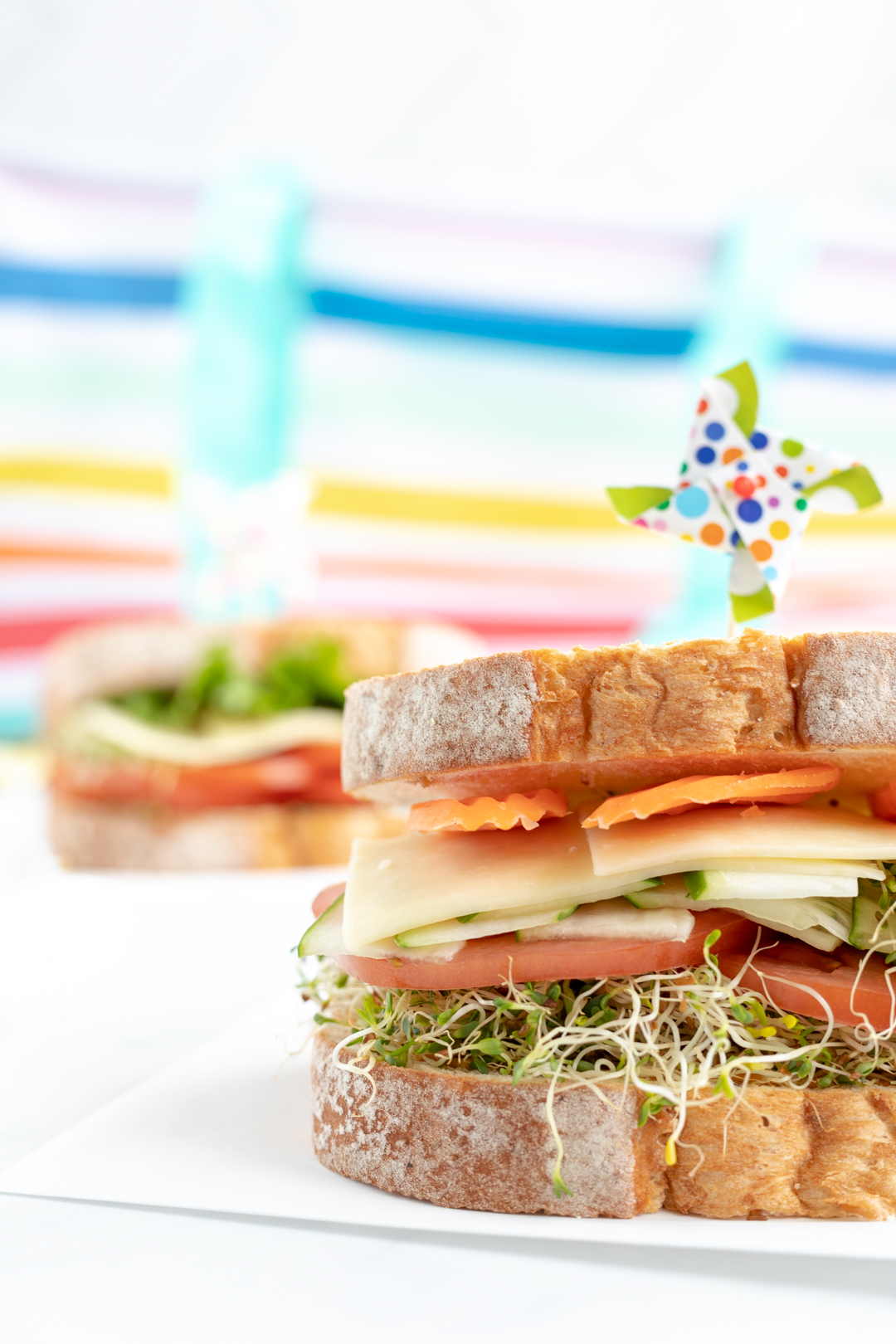 @cutefetti's cover photo for '3 Picnic Perfect Veggie Sandwiches'