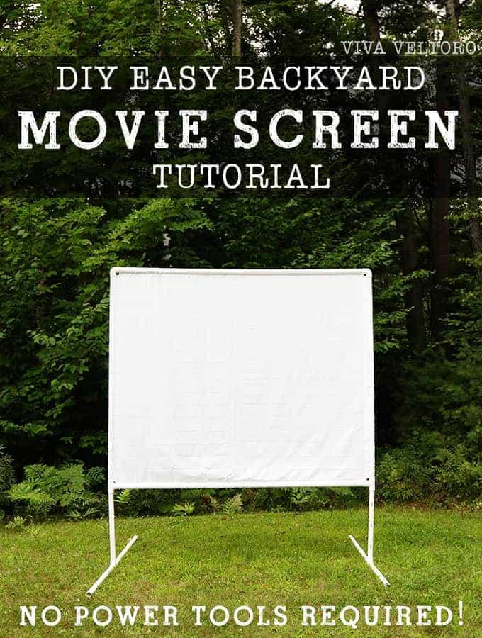 @vivaveltoro's cover photo for 'DIY Outdoor Movie Screen Tutorial'