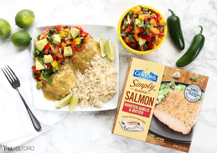 @vivaveltoro's cover photo for 'Salmon Mango Salsa Recipe with Gorton's Seafood - Viva Veltoro'