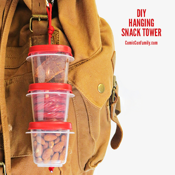 @comicconfamily's cover photo for 'DIY Hanging Snack Tower - Comic Con Family'