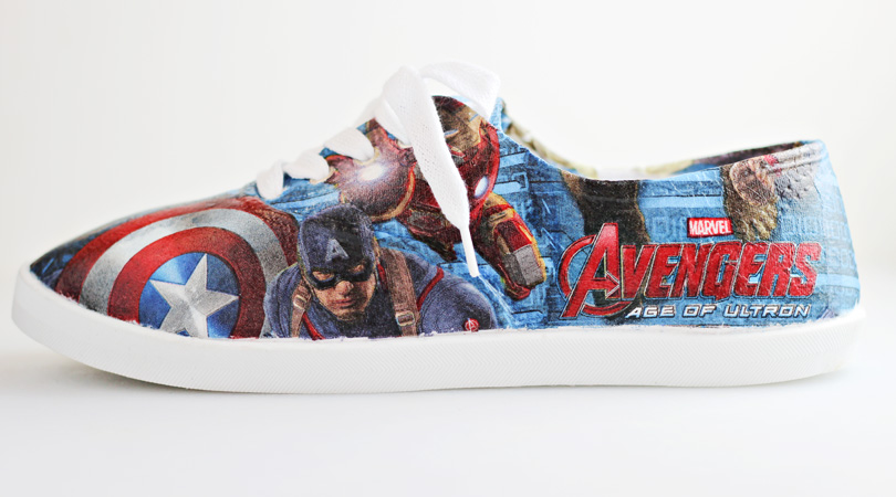 @comicconfamily's cover photo for 'DIY Avengers Superhero Shoes'