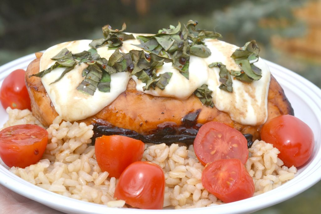 @censiej's cover photo for 'Grilled Chicken Caprese – Sun's Out Grills Out | Building Our Story'