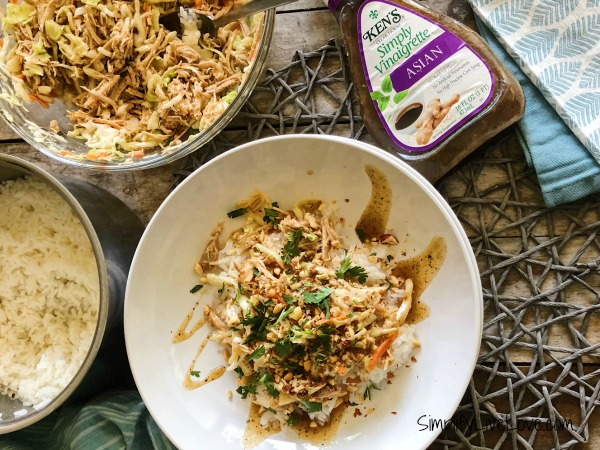 @simplifylivelove's cover photo for 'Instant Pot Pulled Pork Asian Rice Bowls - Simplify, Live, Love'