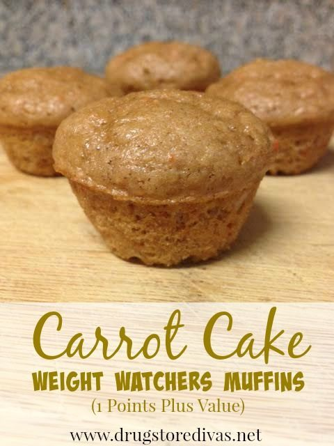 @drugstoredivas's cover photo for 'Carrot Cake Weight Watchers Muffins (1 Points Plus Value or 1.5 Freestyle Points) - Drugstore Divas'