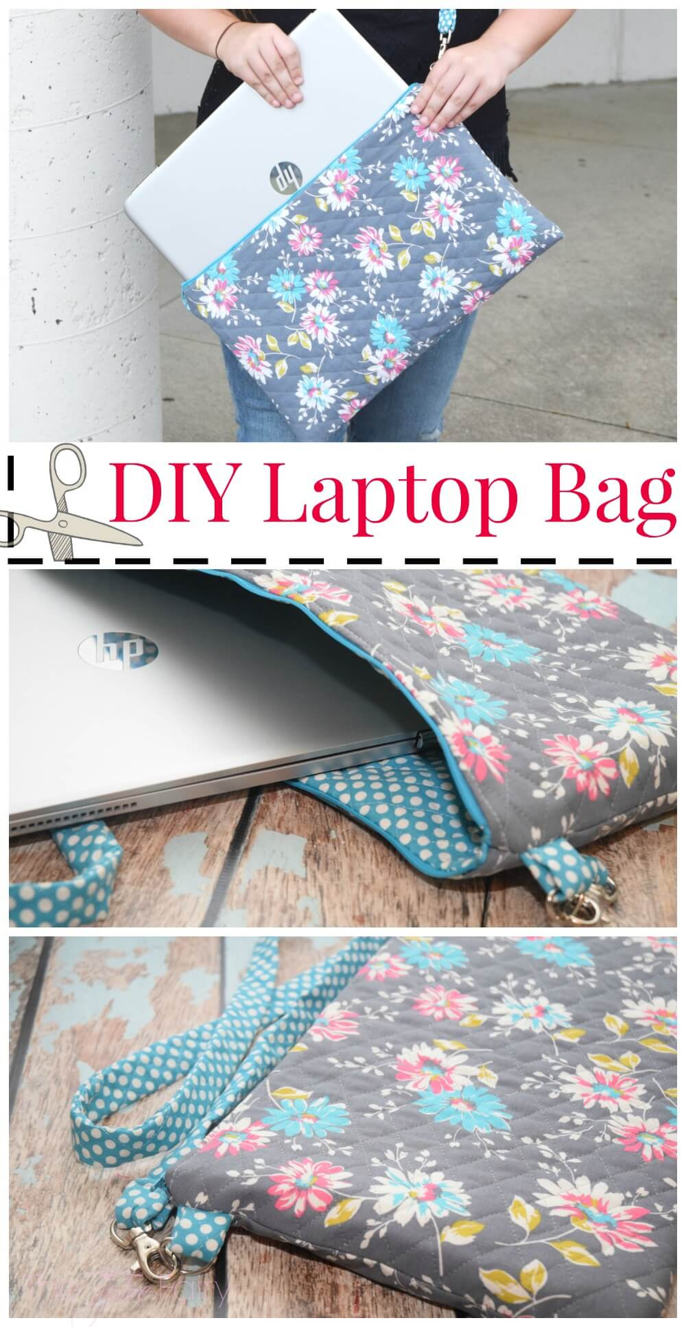 @tiptoefairy's cover photo for 'Back to School DIY Laptop Bag | The TipToe Fairy'