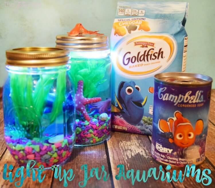 @tiptoefairy's cover photo for 'Light Up Mason Jar Aquariums | The TipToe Fairy'