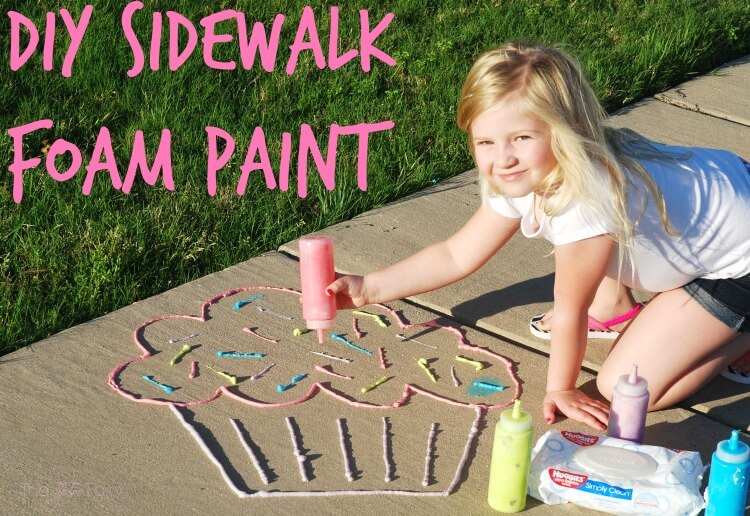@tiptoefairy's cover photo for 'DIY Sidewalk Foam Paint | The TipToe Fairy'