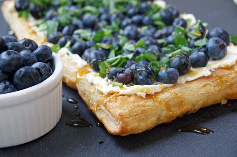 @dianehoffmaster's cover photo for 'Fresh Blueberry Tart Recipe with Basil and Honey'