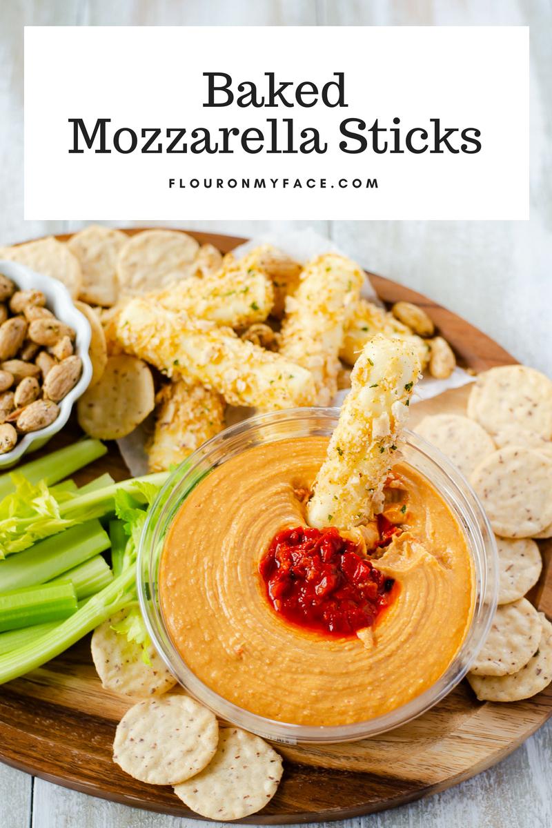 @flouronmyface2's cover photo for 'Homemade Baked Mozzarella Sticks - Flour On My Face'