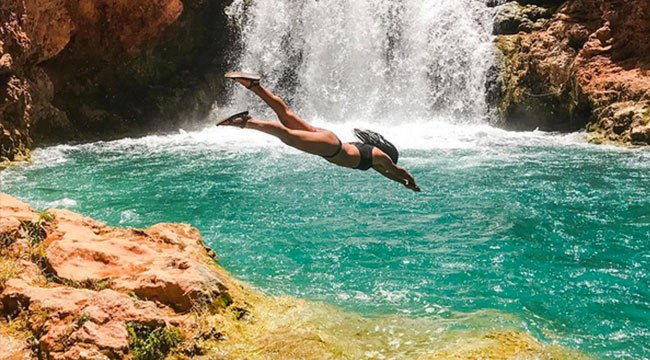 @hopeisdopee's cover photo for 'Meet The Badass Adventurer Bringing Cliff Diving To The Mainstream'