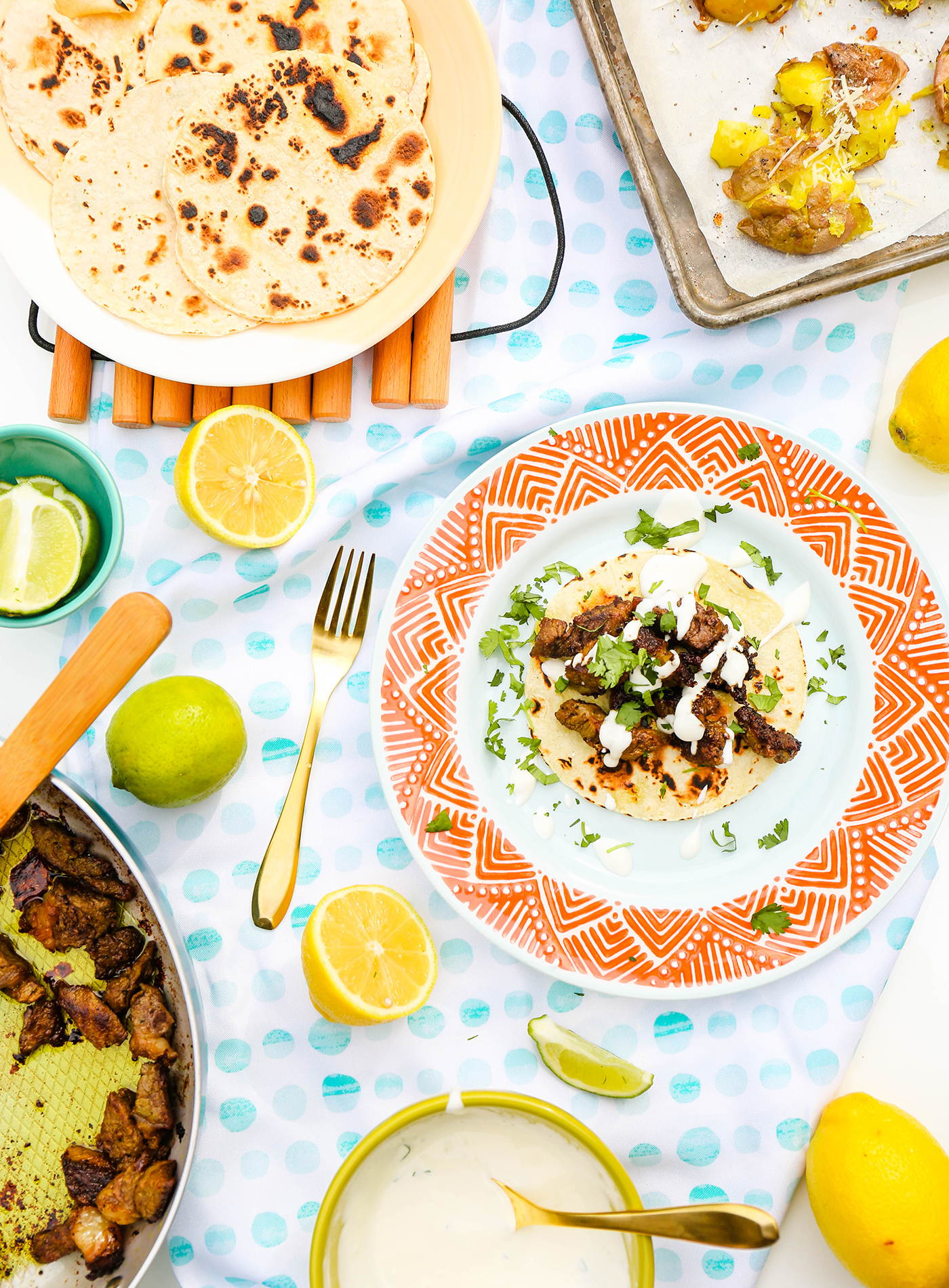 @theproperblog's cover photo for '#TasteIt \ Indian Spiced Steak Tacos Recipe To Wow Friends & Family'