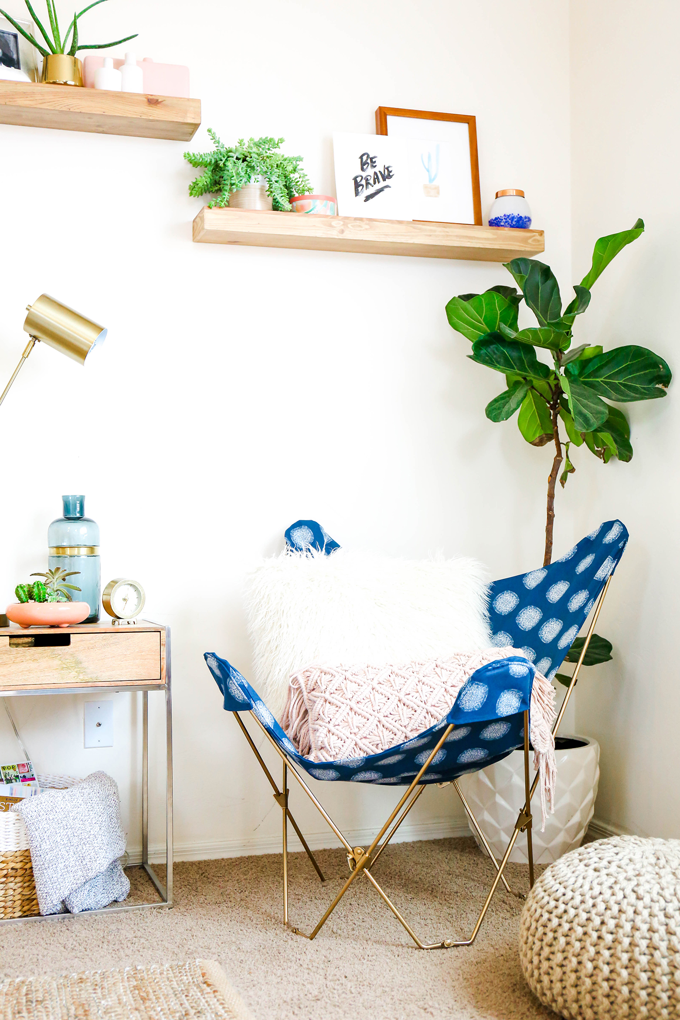 @theproperblog's cover photo for 'Make This \ DIY Butterfly Chair Makeover In One Afternoon'