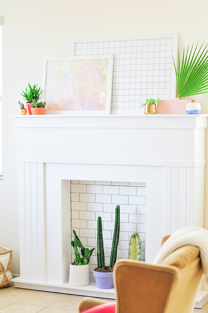 @theproperblog's cover photo for 'Make It DIY Faux Fireplace - PROPER'