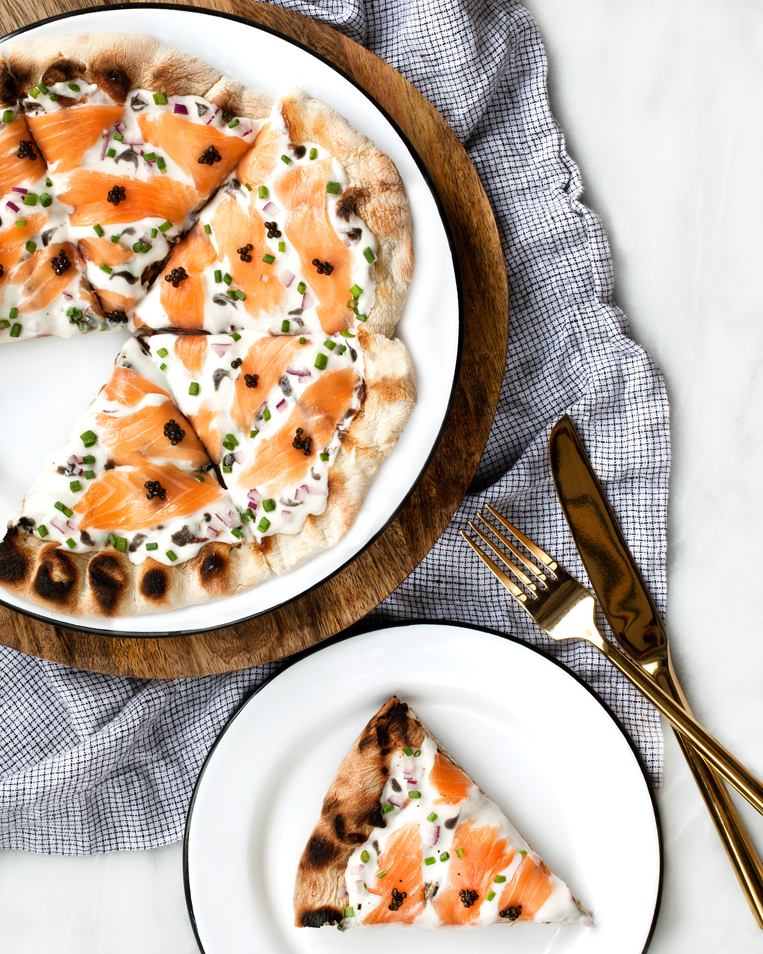 @lastingredient's cover photo for 'Grilled Pizza with Caviar and Smoked Salmon | Last Ingredient'