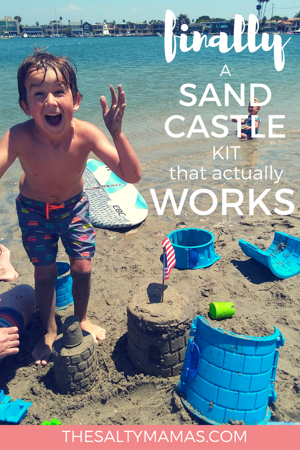 @thesaltymamas's cover photo for 'Building the Perfect Sandcastle with Create A Castle – The Salty Mamas'