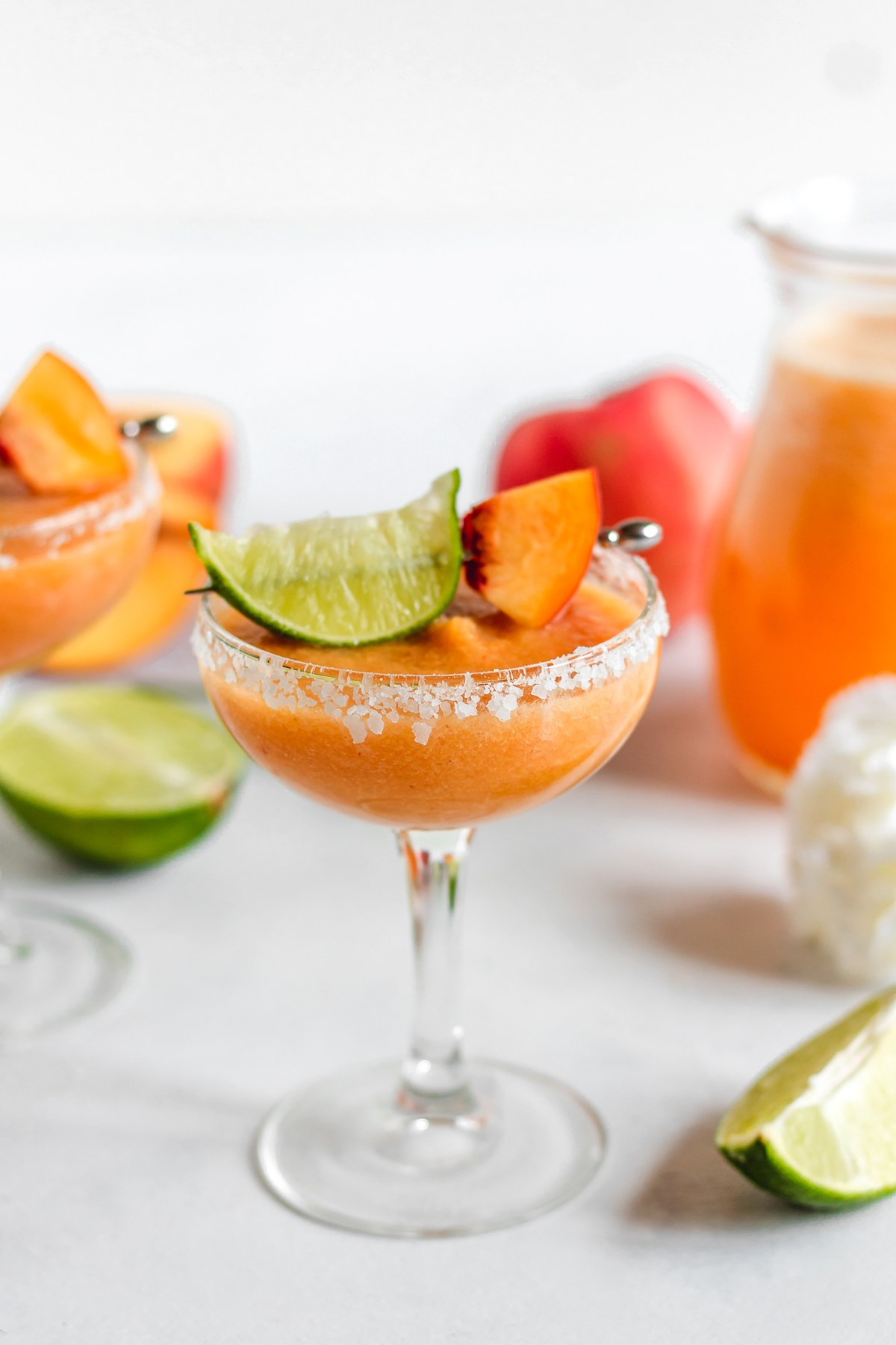 @bakedambrosia's cover photo for 'The BEST Fresh Peach Margaritas - Baked Ambrosia'