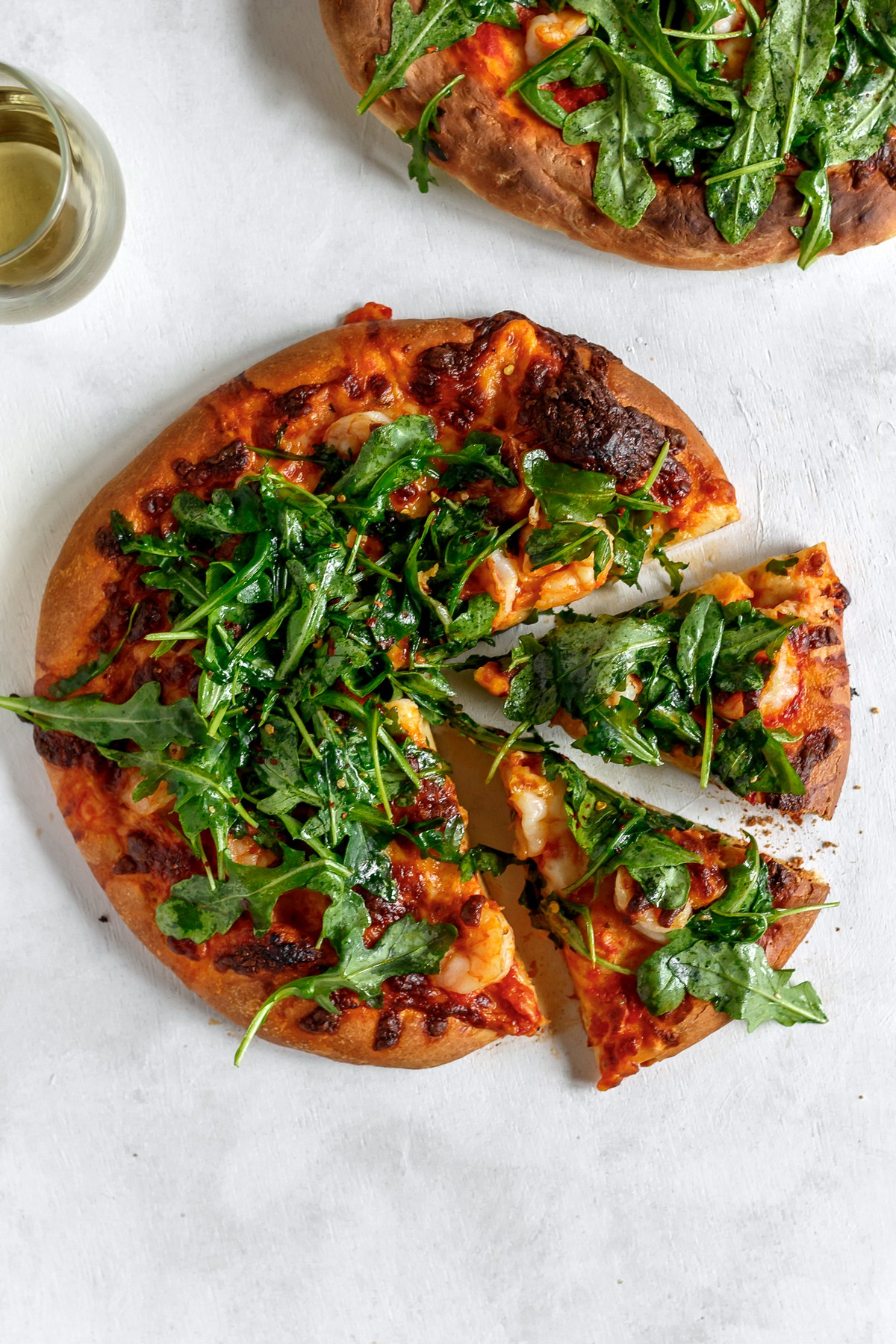 @bakedambrosia's cover photo for 'Shrimp and Arugula Pizza - Baked Ambrosia'