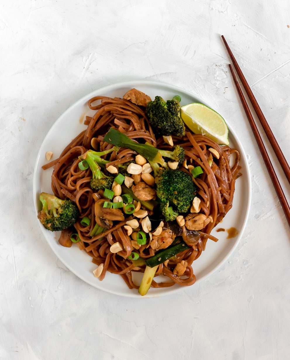@bakedambrosia's cover photo for '20 Minute Spicy Thai Noodles (gluten free, dairy free) - Baked Ambrosia'