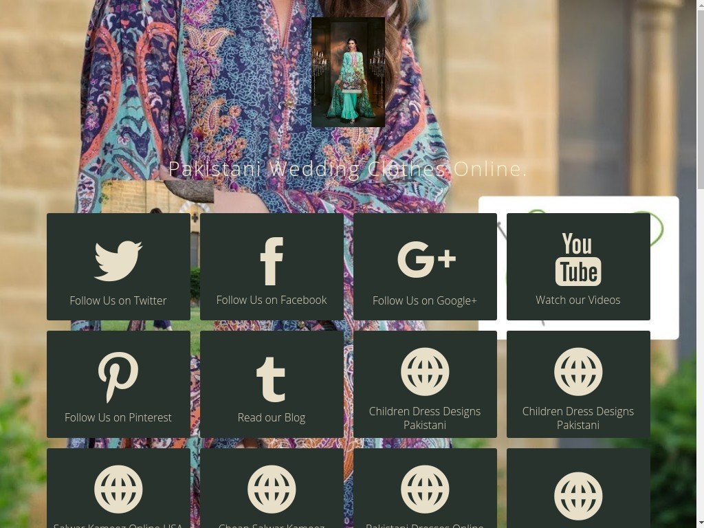 @shopsalai's cover photo for 'Follow Pakistani Dresses For Sale on social media'