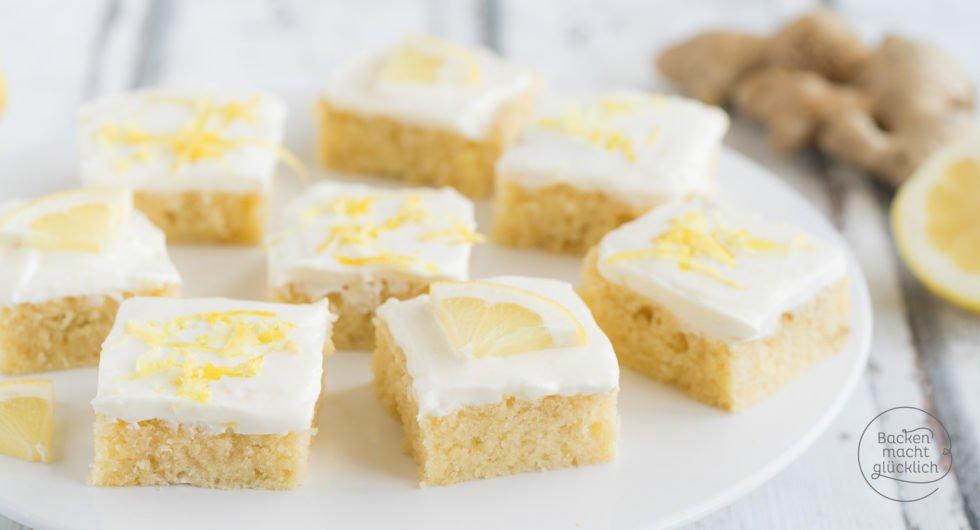 @backenmachtgluecklich.de's cover photo for 'Saftiger Ingwer-Zitronen-Kuchen mit Buttermilch | Backen macht glücklich'