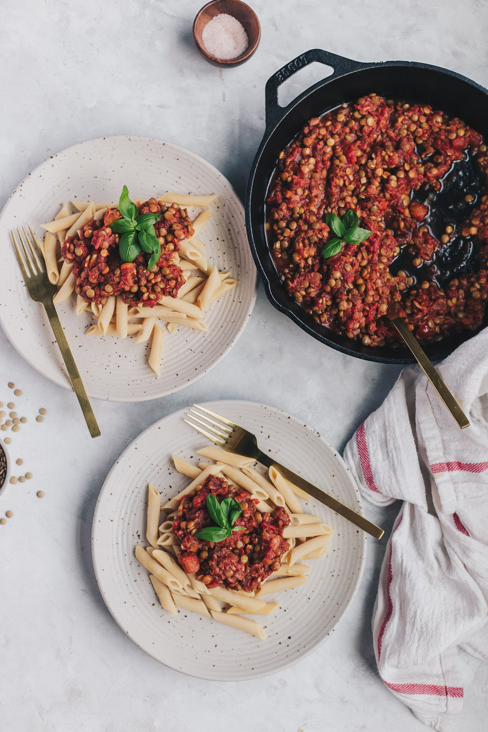 @natteats's cover photo for 'Vegan Lentil Bolognese Sauce with Chickpea Pasta - NattWrobel'