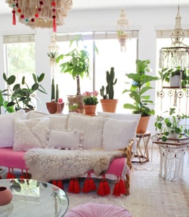 @dreaming_of_decor's cover photo for 'Plant Life Series: An Airy Bohemian Desert Home | Bloomscape'