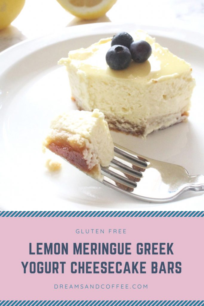 @brittanywboyce's cover photo for 'Lemon Meringue Greek Yogurt Healthy Cheesecake Bars | Gluten-Free'