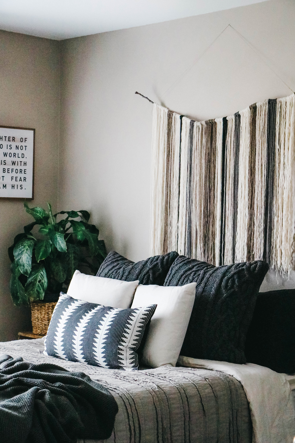 @theanastasiaco's cover photo for 'An Earthy Boho Bedroom Makeover - The Anastasia Co.'