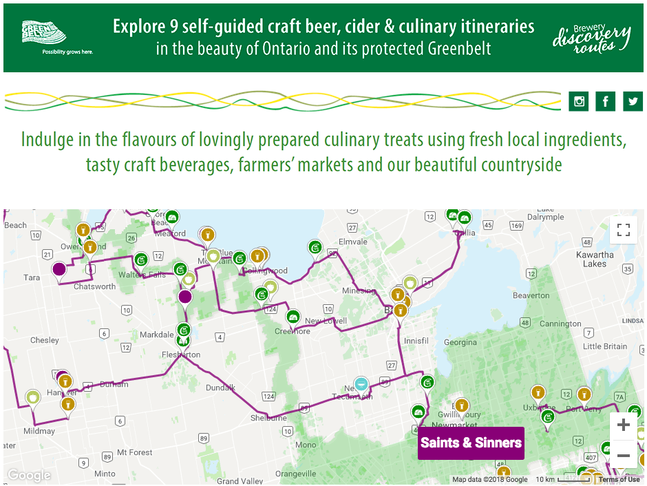 @travellingpint's cover photo for 'Brewery Discovery Routes- A great way to discover what Ontario has to offer! | Travelling Pint Beer Blog'