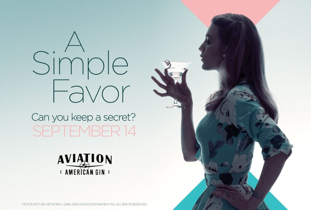 """@paltrowitz's cover photo for 'How Aviation Gin Has Partnered With AMC Theatres & The New Movie """"A Simple Favor""""'"""