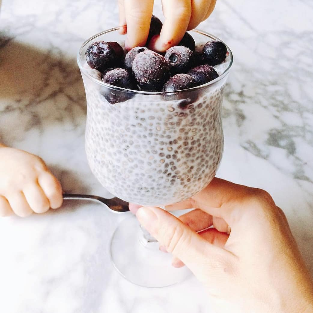 @beauhesling's cover photo for 'Chia seed pudding with coconut milk'
