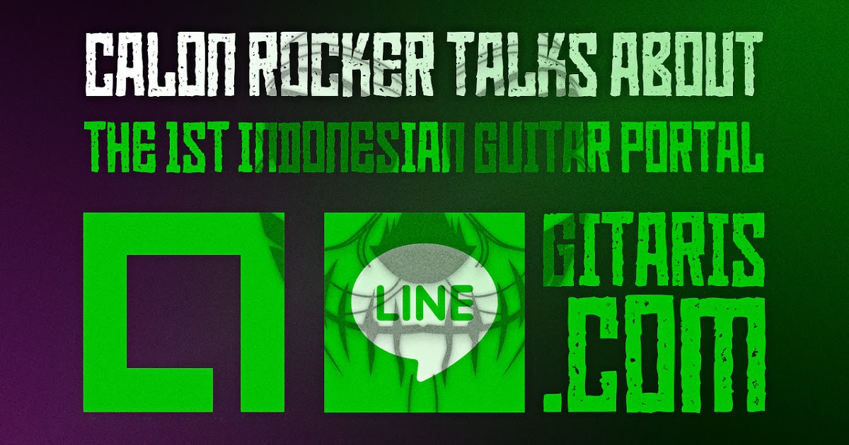 @calonrocker's cover photo for 'The 1st Indonesian Guitar Portal Now on LINE Square'