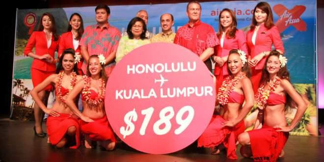 @poohko_hawaii's cover photo for 'エアアジア X、本日ホノルルに就航!'
