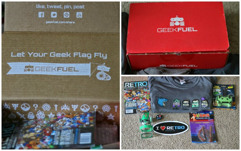 @spokhette's cover photo for 'Geek Fuel: A Monthly Box Review'