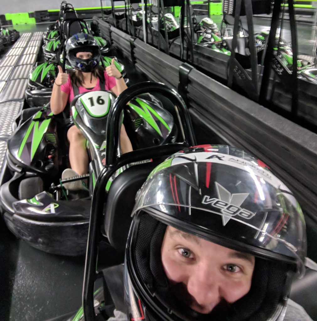@theorlandoduo's cover photo for 'Our Review of Andretti Indoor Karting & Games - The Orlando Duo'