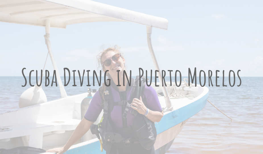 @clairesitchyfeet's cover photo for 'Adventures in Mexico | Scuba Diving in Puerto Morelos'