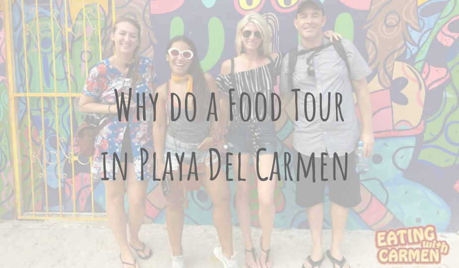 @clairesitchyfeet's cover photo for 'Adventures in Mexico | Eating With Carmen | Food Tour in Playa Del Carmen'