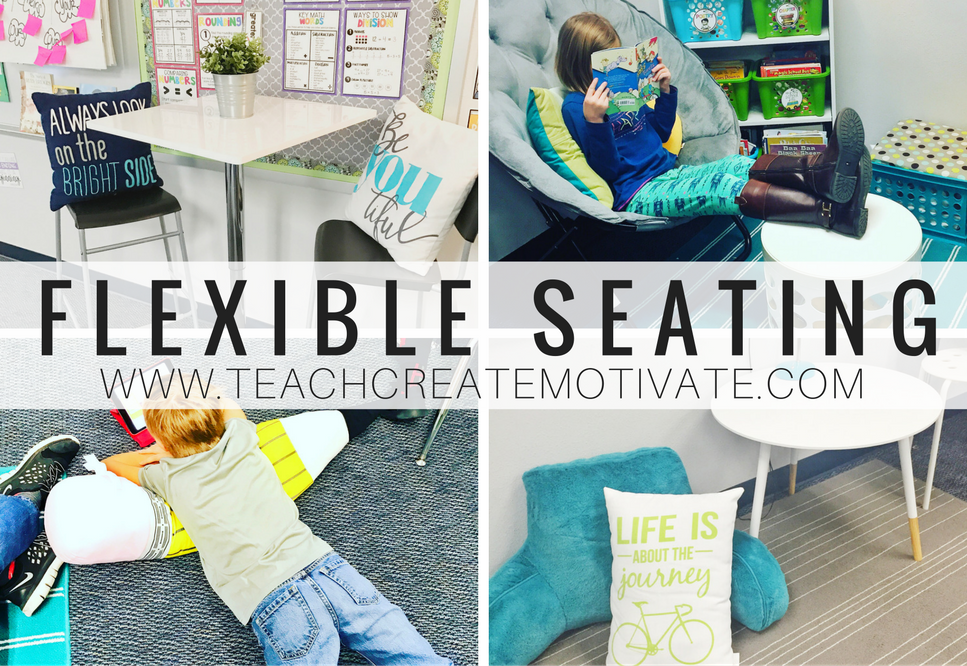 @teachcreatemotivate's cover photo for 'Flexible Seating in the Classroom'