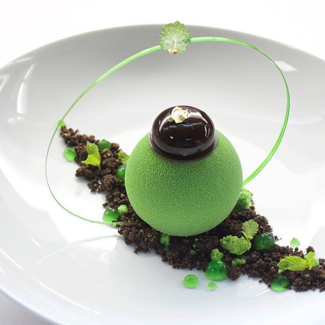 """@wine.dine.life's cover photo for 'Wine.Dine.Life on Instagram: """"Mint chocolate dessert created and photo by master chef @gregoire.ossiano Do you like #finedining and #wine? 🍷 Follow @wine.dine.life…""""'"""