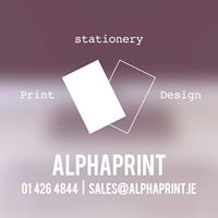 @alphaprintie's cover photo for 'AlphaPrint Ballymount'