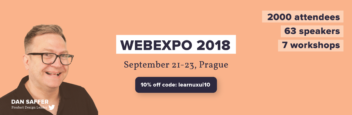 @anfisign's cover photo for '3 reasons to attend WEBEXPO 2018 event – Learn UX/UI – Medium'