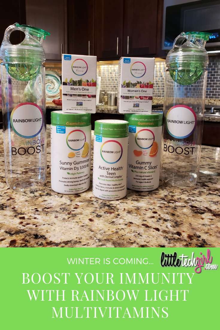 @littletechgirl's cover photo for 'Winter is Coming... Boost Your Immunity with Rainbow Light Multivitamins'