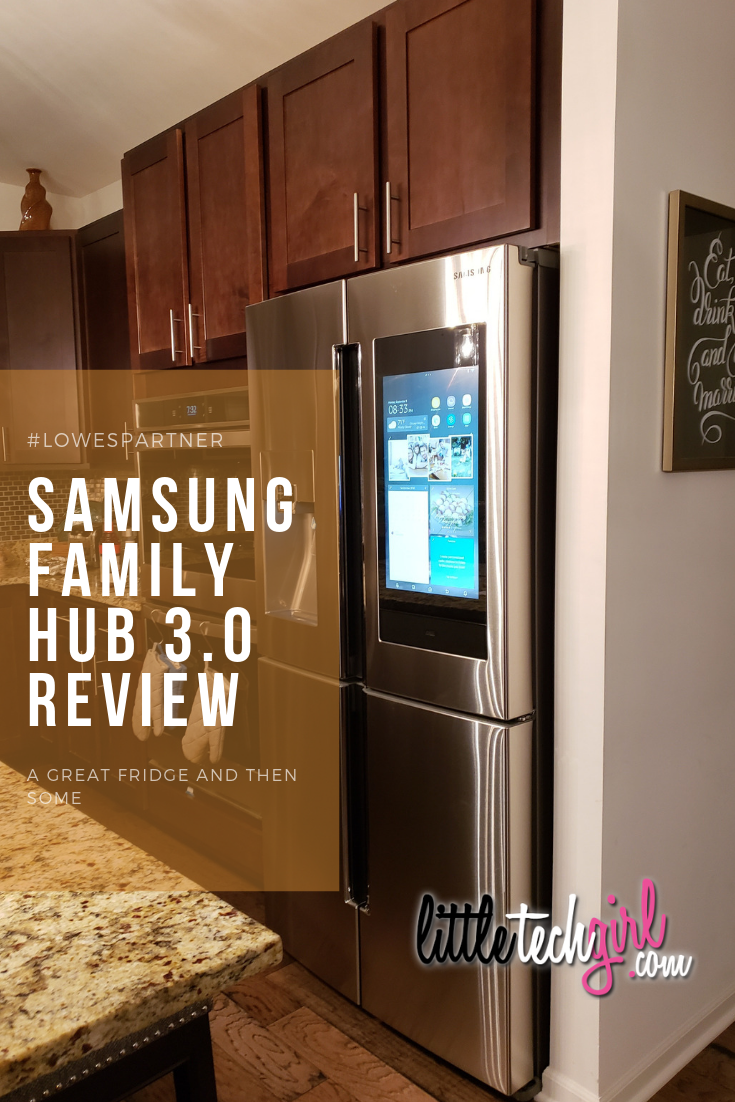 @littletechgirl's cover photo for 'Samsung Family Hub 3.0 Review - Best Fridge For Busy Families'