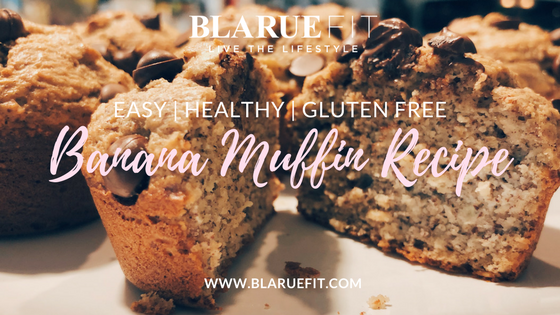 @blaruefit's cover photo for 'BANANA MUFFIN RECIPE | HEALTHY, EASY, & GLUTEN FREE'