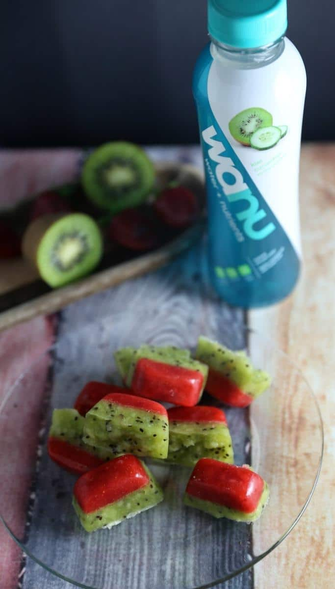 @jennlbrockman's cover photo for 'Wanu Water Strawberry Kiwi Ice Cubes | Jenns Blah Blah Blog'