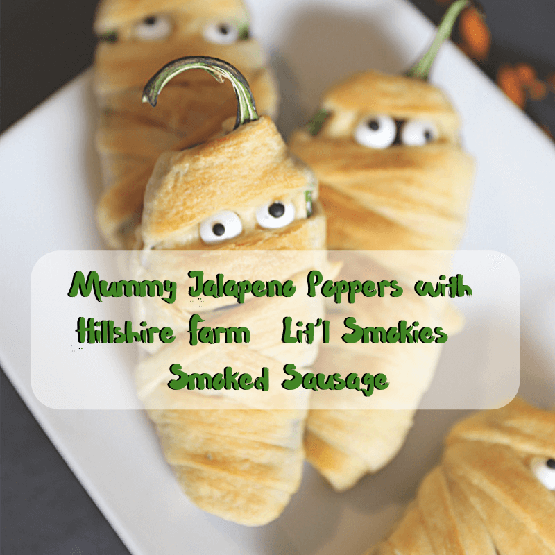 @jennlbrockman's cover photo for 'Mummy Jalapeno Poppers with Hillshire Farm® Lit'l Smokies® Smoked Sausage | Jenns Blah Blah Blog'