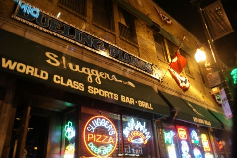@loveforchicago312's cover photo for 'Booze & Baseball at Sluggers - Love for Chicago'